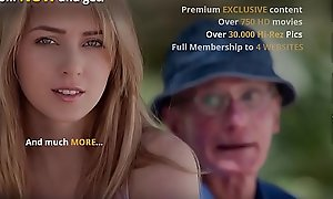 Grand-dad Bonks Teen Fur pie She Takes Ingenuous Indiscretion Facial