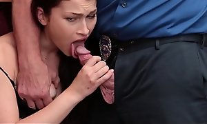 Hot Brunette Teen Shoplifter Jennifer Jacobs Fucked By Security Guard After Convocation A Manage
