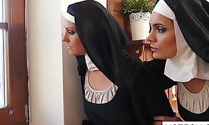 Crazy dame nuns licking vaginas