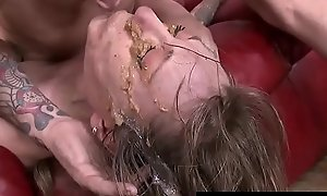 Undernourished MILF indiscretion fucked to upchuck